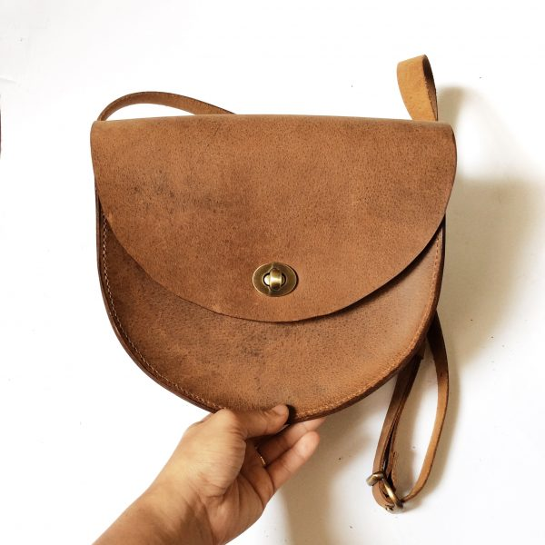 First Saddle Bag In Mocha